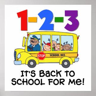 1-2-3 de nuevo a escuela póster