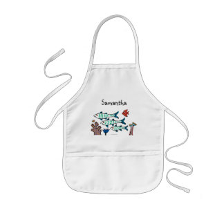 1, 2, 3 Fish with Little Fish and Coral Kids' Apron