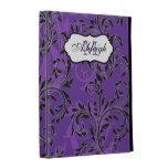 1,2,3) folios enrollado púrpura, negro, blanco del