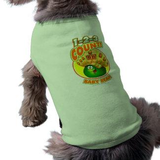 1-2-3 haba del bebé de la cuenta camisetas de perrito