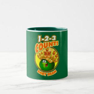 1-2-3 haba del bebé de la cuenta taza de café