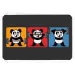 1-2-3 panda del levantamiento de pesas iman rectangular