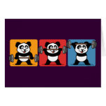 1-2-3 panda del levantamiento de pesas tarjeta