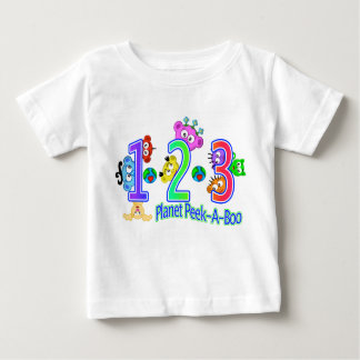 1-2-3 Planet Peek-A-Boo Baby T-Shirt