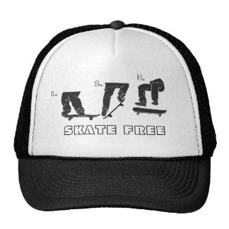 1., 2., 3., SKATE FREE Hat