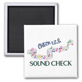 1.2.3 Sound Check 2 Inch Square Magnet