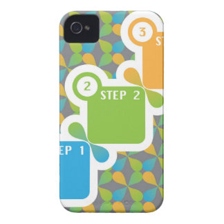 1 2 3 Steps vector iPhone 4 Case-Mate Cases