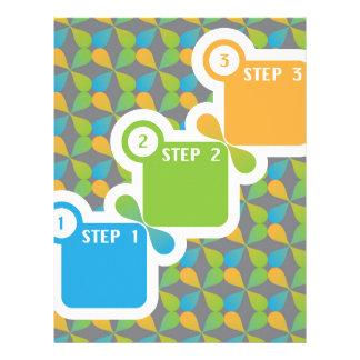 1 2 3 Steps vector Letterhead