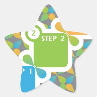 1 2 3 Steps vector Star Sticker