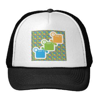 1 2 3 Steps vector Trucker Hat