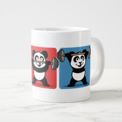 Jumbo Mug with 1-2-3 Weightlifting Panda design