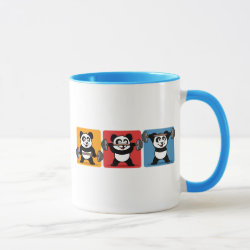 Combo Mug with 1-2-3 Weightlifting Panda design