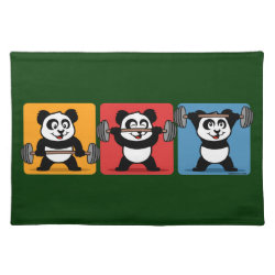 Placemat 20' x 14' with 1-2-3 Weightlifting Panda design