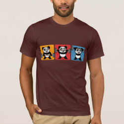 Men's Basic American Apparel T-Shirt with 1-2-3 Weightlifting Panda design