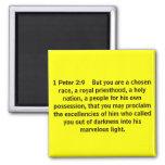 1 2:9 pero    usted de Peter está una raza elegida Imán De Frigorífico
