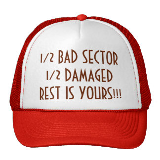 1/2 Bad Sector 1/2 Damaged Rest Is Yours Trucker Hat