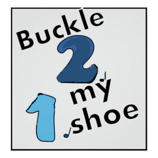 1-2 buckle my shoe poster