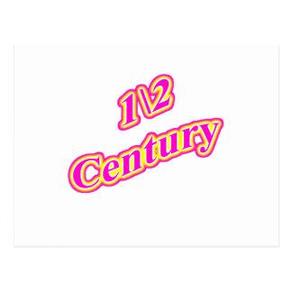 1\2 Century  Magenta Postcard