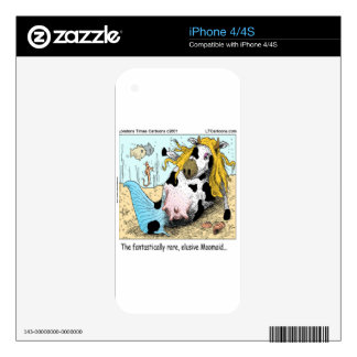 1/2 Cow 1/2 Mermaid Moomaid Funny Decals For iPhone 4S