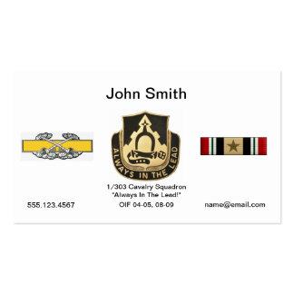 1/303 Cavalry Business Card
