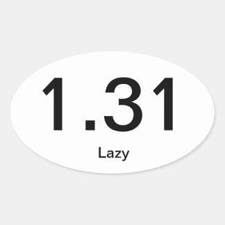 1.31 Lazy Oval Sticker