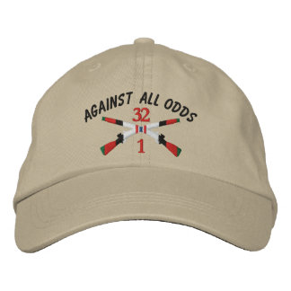 1-32nd Infantry Afghanistan Crossed Rifles Embroidered Baseball Cap