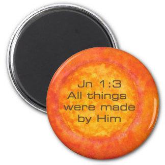 1:3 cristiano Jesús de Jn de la creación del verso Imán Para Frigorifico