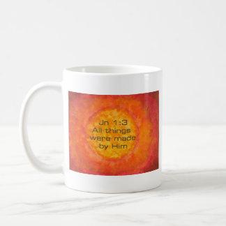 1:3 cristiano Jesús de Jn de la creación del verso Taza De Café