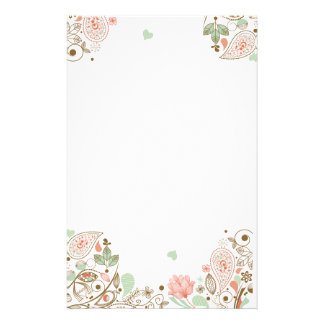 #1-3S floral abstracto caprichoso y lindo Personalized Stationery