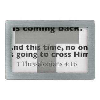 1 4:6 de Thessalonians Hebilla Cinturon Rectangular