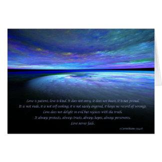 1 4:8 de los Corinthians Tarjeta De Felicitación
