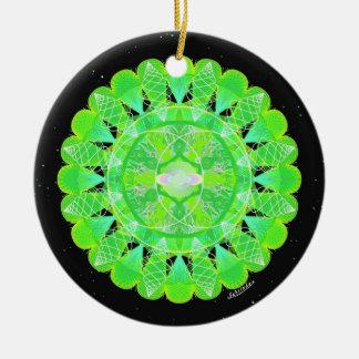 1/4 Chakra Color Complement Ceramic Ornament