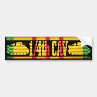 1/4th Cav ACAV Tracks Car Bumper Sticker