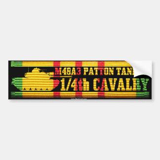 1/4th Cavalry M48A3 Tanker Car Bumper Sticker