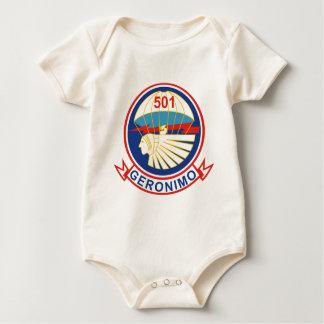 1-501st Parachute Infantry Regiment (1) (PIR) Baby Bodysuit