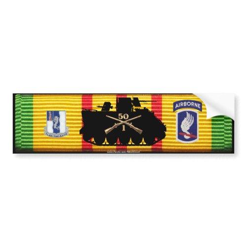 1/50th Inf 173rd Abn Bde Track & Insignia VSM Bump bumpersticker
