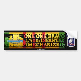 1/50th Inf. 173rd Arbn. One One Bravo Bumper Stick Car Bumper Sticker
