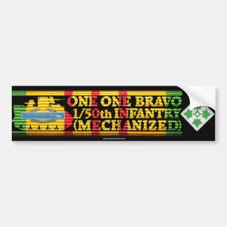 1/50th Inf. 4th Div. One One Bravo Bumper Sticker Car Bumper Sticker
