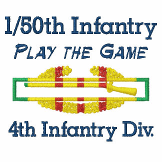 50th Inf. 4th Inf Div VSM CIB Embroidered Shirt