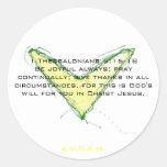1 5:16 de Thessalonians - alwa alegre 18Be… Pegatina Redonda