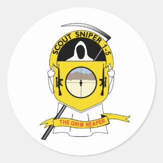 1-5-1 Scout Sniper Classic Round Sticker