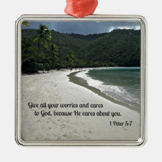 1 5:7 de Peter da todas sus preocupaciones y cuida Ornamentos De Reyes Magos