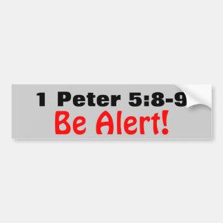 1 5:8 de Peter - 9 sean alarma del león del rugido Etiqueta De Parachoque