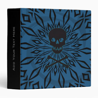 "1.5"" Blue Rage Skull Binder"