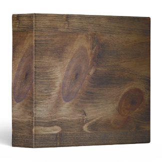 """1.5"""" Brown Rustic Wood Look Background 3 Ring Binder"""