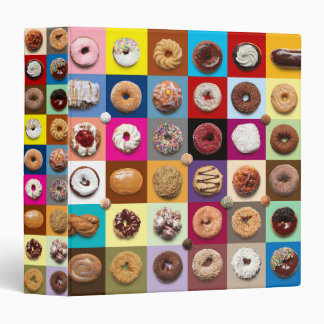 """1.5"""" Colorful Donuts 3-ring binder"""