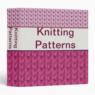 "1.5"" Customizable Knittin Pattern Binder"