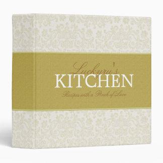 1.5 Inch Ivory Lace Recipe Binder