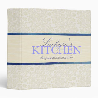1.5 Inch Ivory Lace with Ribbon Recipe Binder