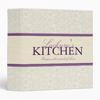 1 5 Inch Ivory Lace with Ribbon Recipe Binder